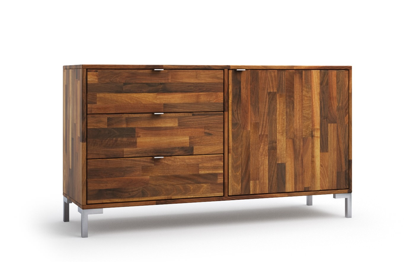 lille in nussbaum sideboard. Black Bedroom Furniture Sets. Home Design Ideas