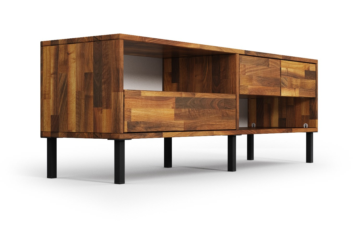 klaipeda in nussbaum hifi sideboard nach ma. Black Bedroom Furniture Sets. Home Design Ideas