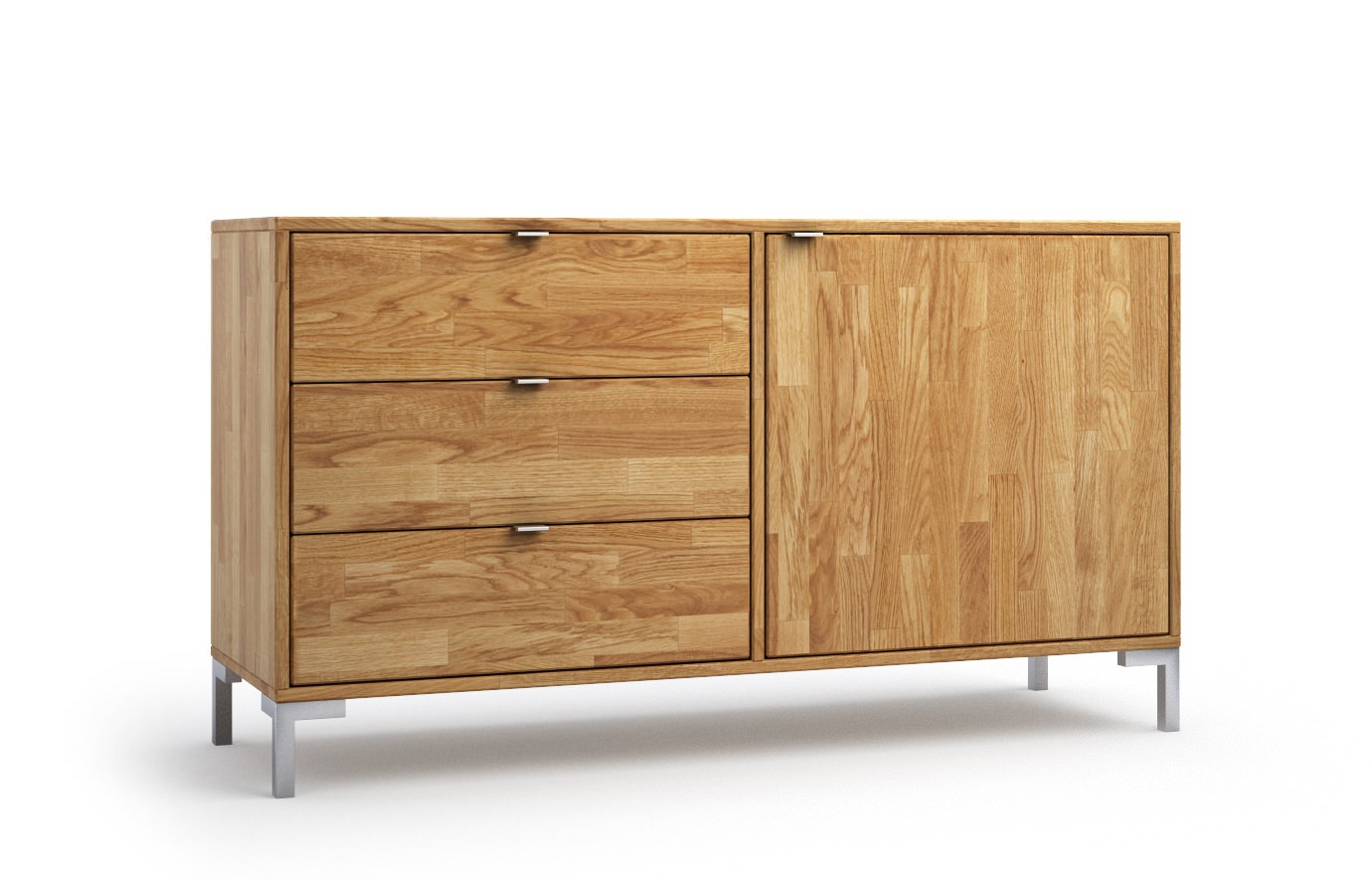 lille in eiche sideboard. Black Bedroom Furniture Sets. Home Design Ideas