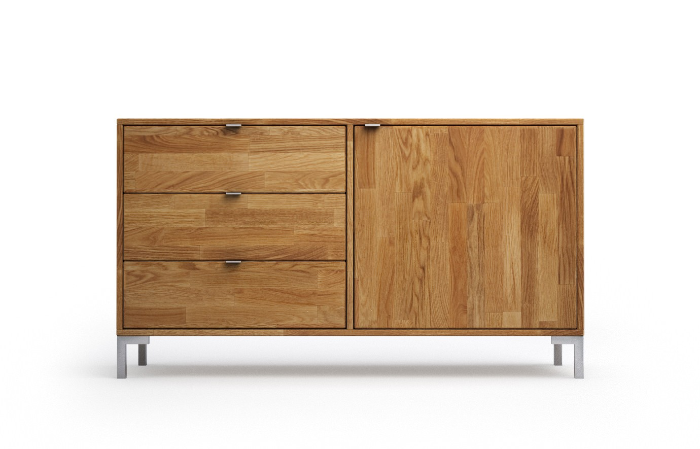 lille in eiche rustikal sideboard. Black Bedroom Furniture Sets. Home Design Ideas