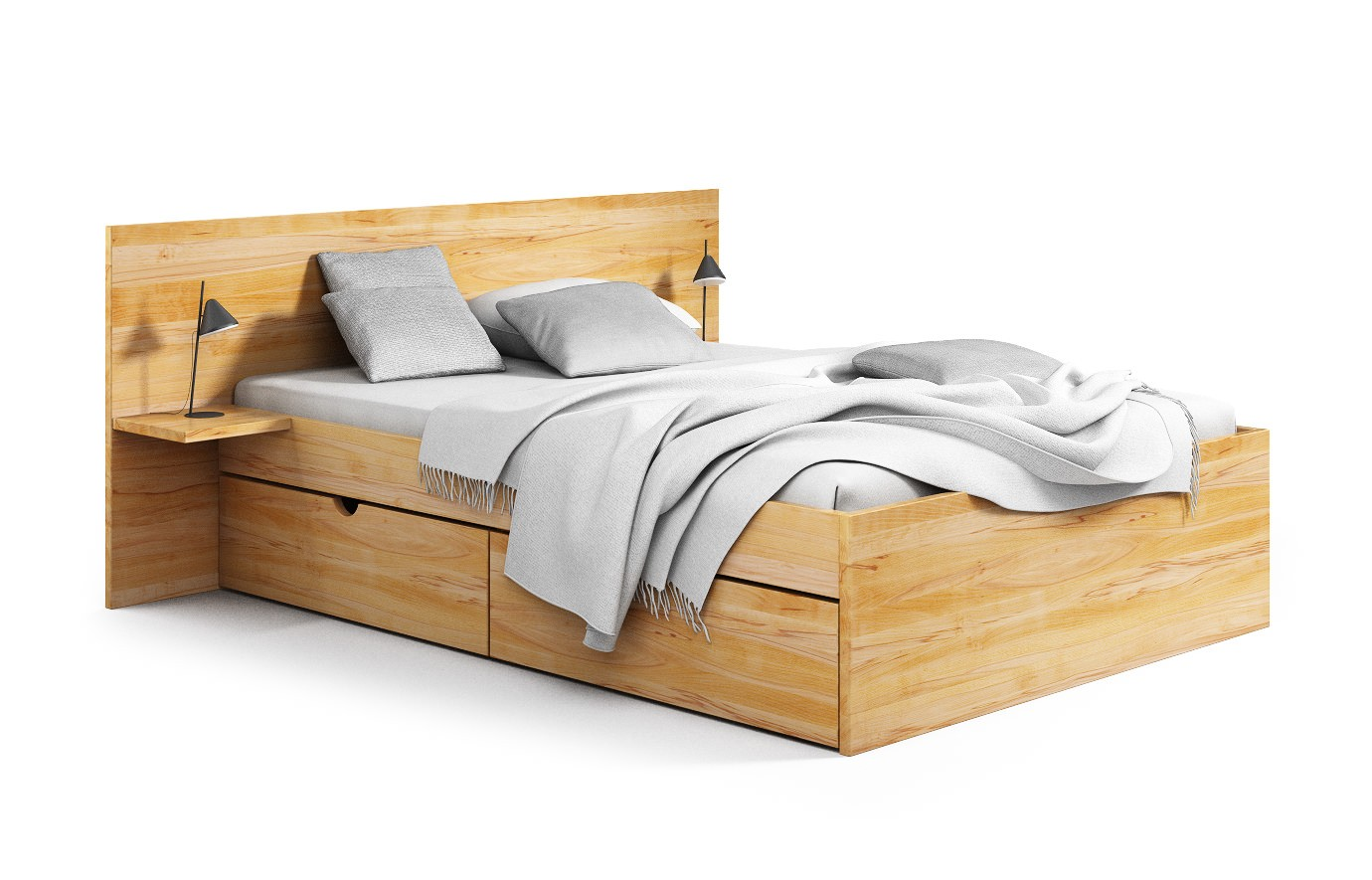 mailand in buche rustikal bett nach ma. Black Bedroom Furniture Sets. Home Design Ideas
