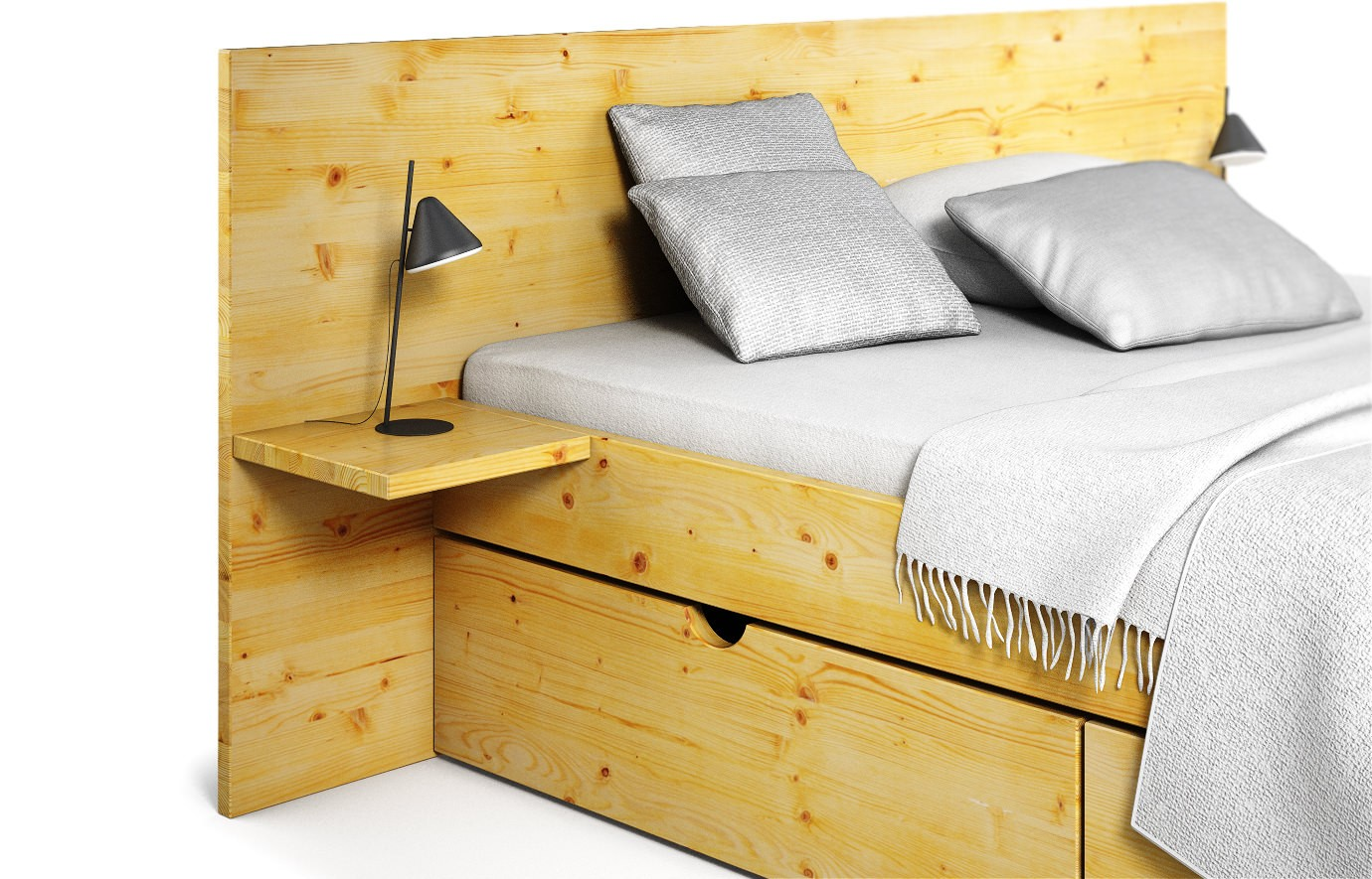 mailand in kiefer bett nach ma. Black Bedroom Furniture Sets. Home Design Ideas