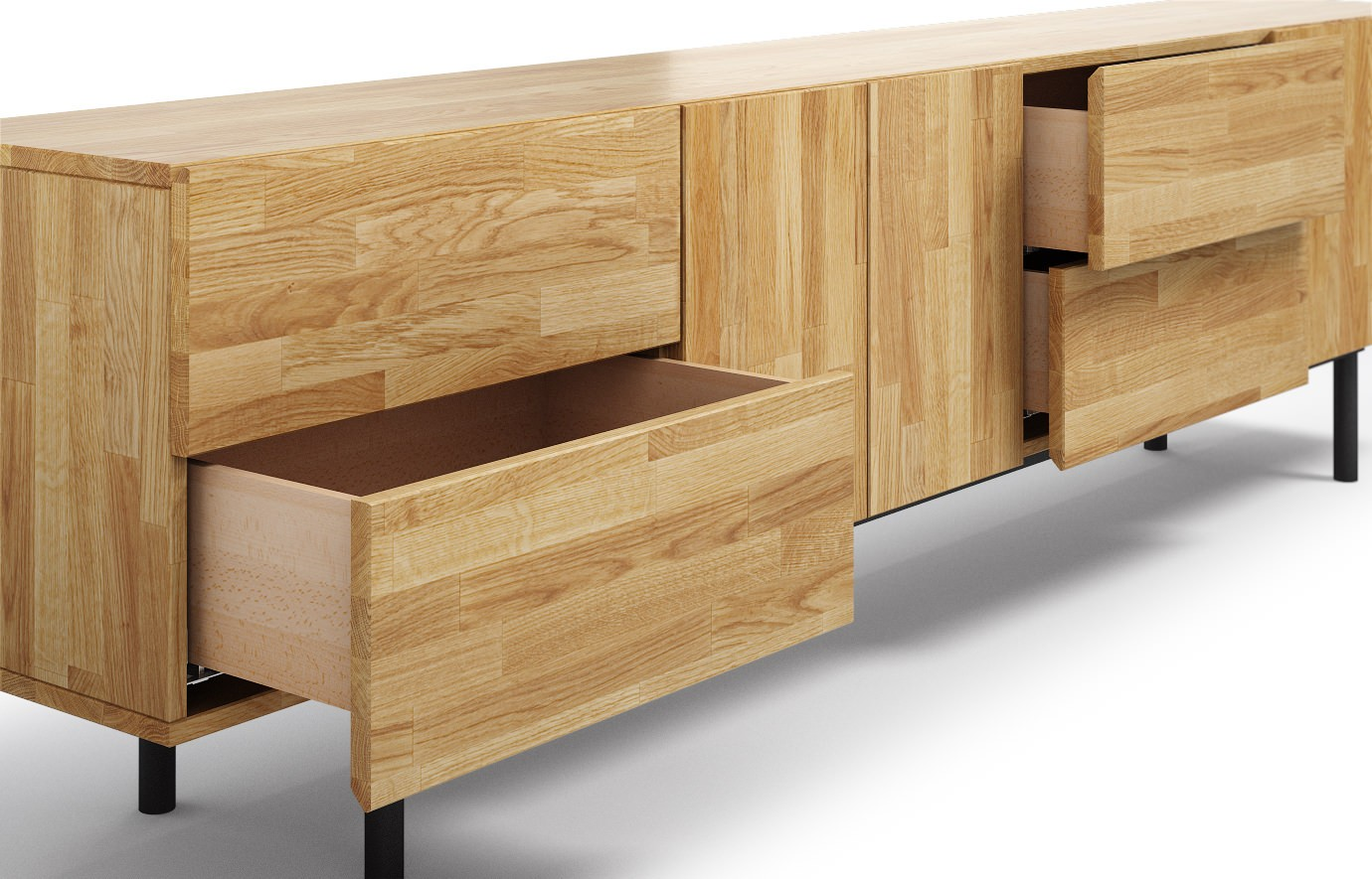 Varna in eiche sideboard for Sideboard vollholz