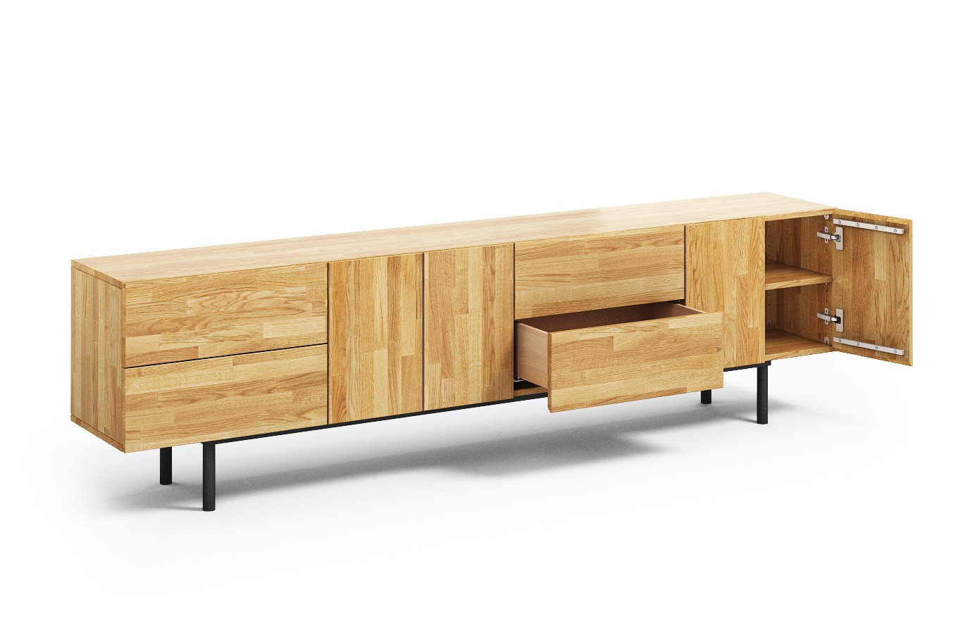 varna in eiche sideboard. Black Bedroom Furniture Sets. Home Design Ideas