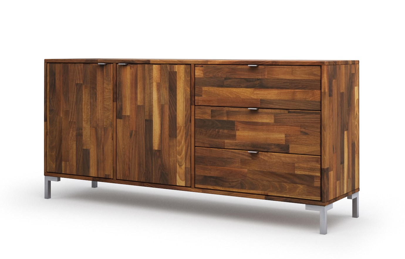 wels in nussbaum sideboard. Black Bedroom Furniture Sets. Home Design Ideas