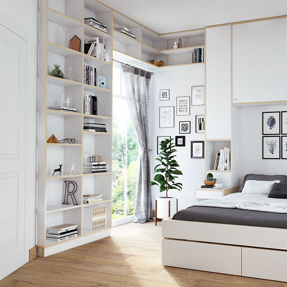 vorratsraum regal good regalsystem pslot broregal unter dachschrge in eiche und silber with. Black Bedroom Furniture Sets. Home Design Ideas