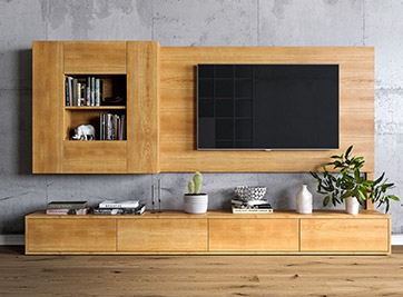 holzconnection tv m bel nach ma. Black Bedroom Furniture Sets. Home Design Ideas